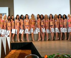 Polfinale Miss Slovenije 2007 - izhod v kopalkah