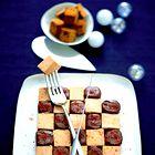 Šahovnica iz gosje jetrne paštete s papriko. (foto: Fotografija Edouard Sicot)