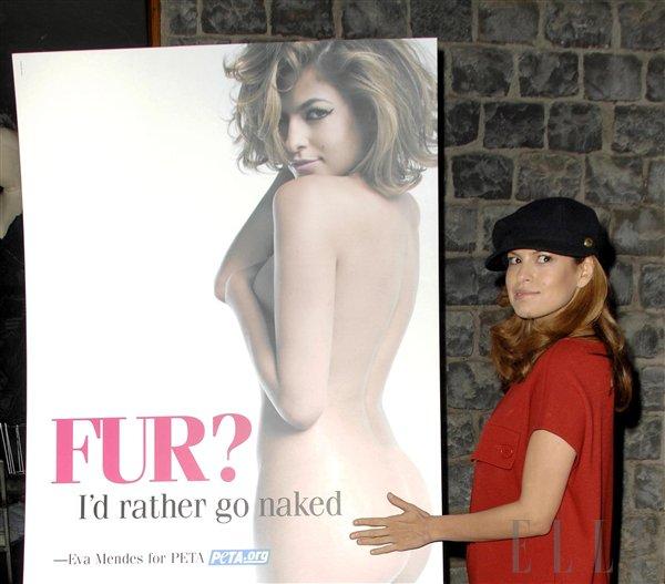 Eva Mendes: Raje gola kot v krznu - Foto: Fotografija RedDot