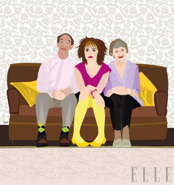 """Iz Elle arhiva: """"Na pomoč: stara sem 30 in moji starši se ločujejo!"""" - Foto: Ilustracija Dunja Mantel"""