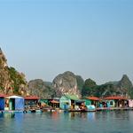 Ena izmed vasic na vodi v Halong Bayu. (foto: Fotografija Dejan Burja)
