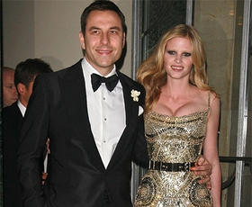 Lara Stone in David Walliams poročena