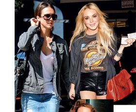Majica: Jessica Alba, Lindsay Lohan, Kylie Minogue