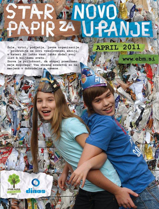Spomladanska akcija: Star papir za novo upanje - Foto: Promocijsko gradivo