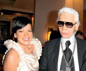 Lily Allen: na zmenku z Lagerfeldom