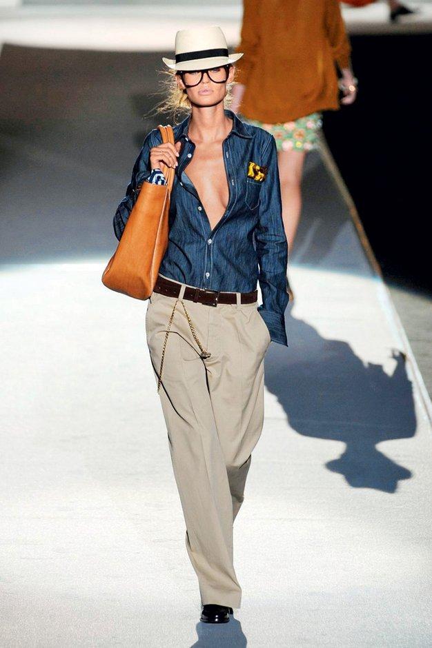 Pet nasvetov, kako nositi široke hlače - Foto: arhiv Elle/Imaxtree