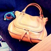 Njena Chloé in Hermès. (foto: Matevž Paternoster)