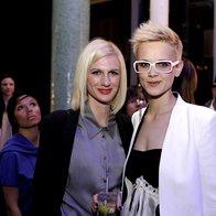 Tereza Poljanič s prijateljico. (foto: Andrej Nemec)