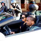 Foto: »Kimye« obtičala v prometu v Parizu