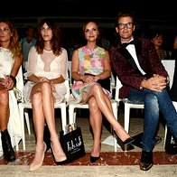 Erin Wasson, Alexa Chung, Christina Ricci in Brad Goreski; modna revija Elle (foto: Getty)