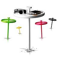Lesena miza Pin Table, zaključena v visokim sijajem (navdih: risalni žebljiček) (foto: Promocijsko gradivo)