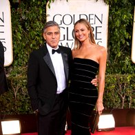 George Clooney in Stacy Keibler, oba Armani
