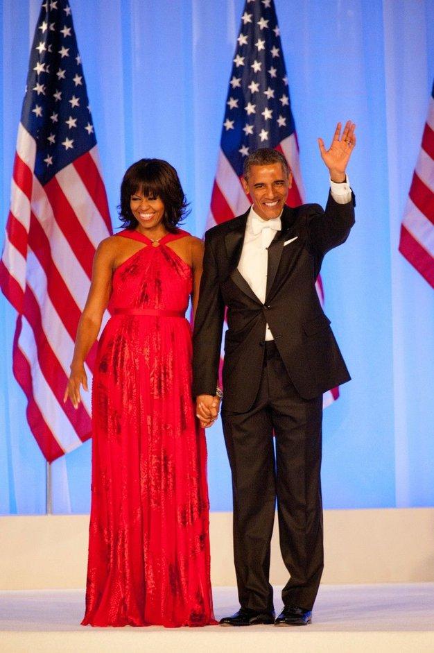 Michelle Obama, (prva) dama v rdečem - Foto: Profimedia