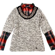Srajčna bluza in pulover Promod, 29,95 in 39,95 €  (foto: Aleksander Štokelj, Tadej Windschnurer, Imaxtree)