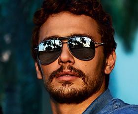 James Franco, lepotec s sončnimi očali Gucci