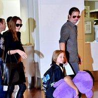 Foto: Družina Jolie-Pitt prispela v Tokio (foto: Profimedia)