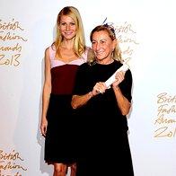Gwyneth Paltrow (v obleki Prada) z Miuccio Prada