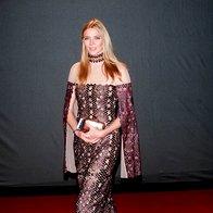 Jodie Kidd v obleki Marios Schwab (foto: Profimedia)
