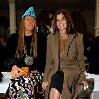 Anna Dello Russo in Carine Roitfeld na reviji Maison Martin Margiela (foto: Profimedia)