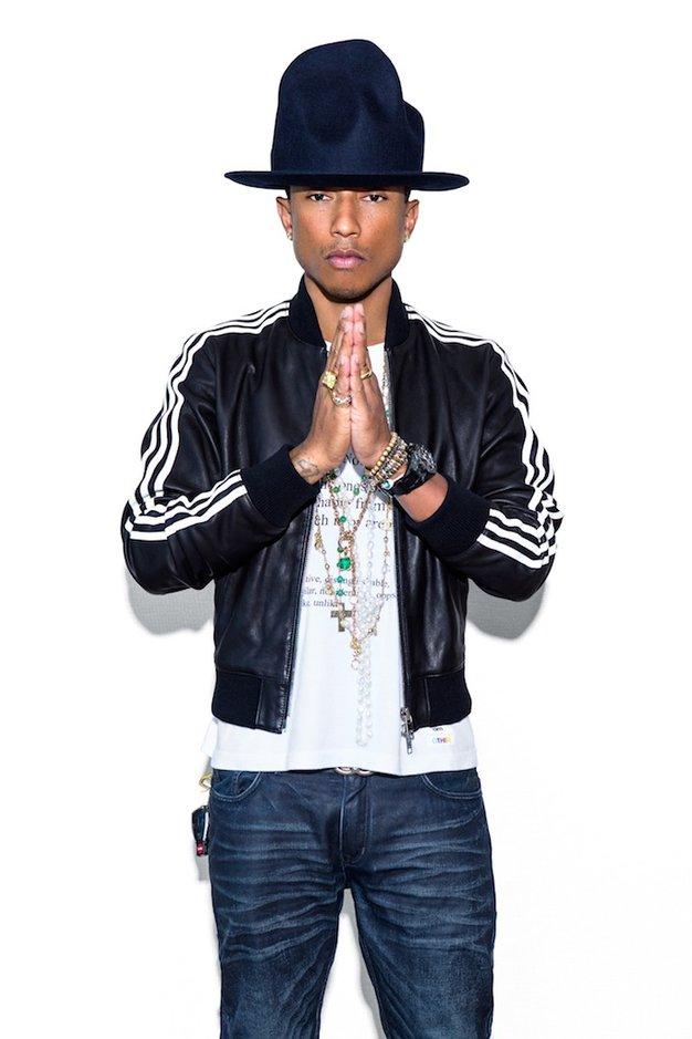"""""""Happy"""" Pharrell nosi in sooblikuje adidas - Foto: Promocijsko gradivo"""