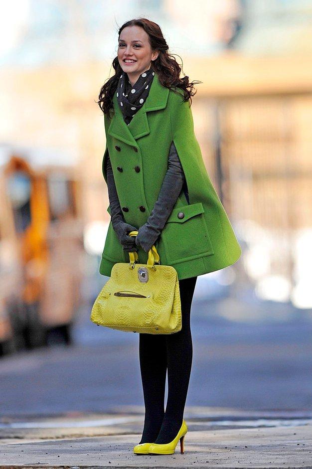 Leighton Meester na snemanju Opravljivke - Foto: Profimedia