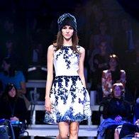 Modna revija AlmiraSadar: Odtenki modre (foto: Primož Predalič)
