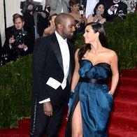 Kanye West in Kim Kardashian (foto: Profimedia)