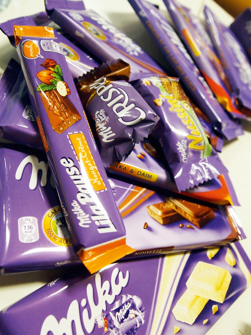 8 čokolad Milka smo 'pokončali' v treh urah fotografiranja