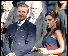 Foto: Becks in Posh v Wimbledonu