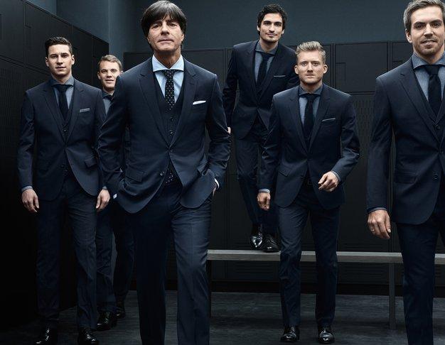 Nemška reprezentanca v oblekah Hugo Boss. - Foto: Hugo Boss