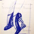 Čevlji se začnejo rojevati na papirju. (foto: osebni arhiv)
