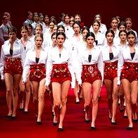Foto: Dolce & Gabbana iz MFW za pomlad/poletje 2015 (foto: profimedia)