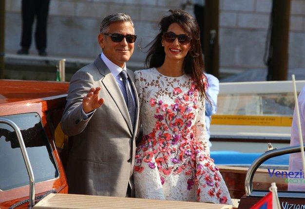 George Clooney in Amal Alamuddin: Poročena! - Foto: Profimedia