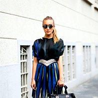 Oblikovalka in stilistka Elen Ellis na pariškem tednu mode. (foto: Profimedia)