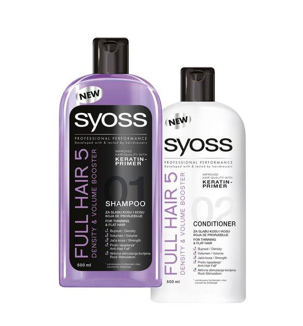 Elle podarja: šampon in regenerator za lase Syoss - Foto: promocijsko gradivo