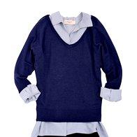 Krilo DKNY, 289 €, Bluza Weekend Max Mara, 204 €, Pulover Max & Co., 81 € (foto: Windschnurer, Imaxtree)