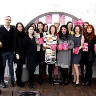 Predstavniki zmagovalnih blagovnih znamk na Elle International Beauty Awards.