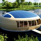Popolnoma ekološka hiša na vodi