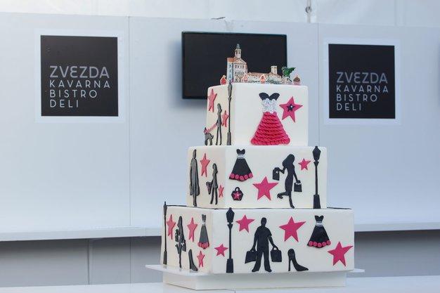 Najbolj modna Zvezdina torta na LJFW - Foto: Damjan Končar