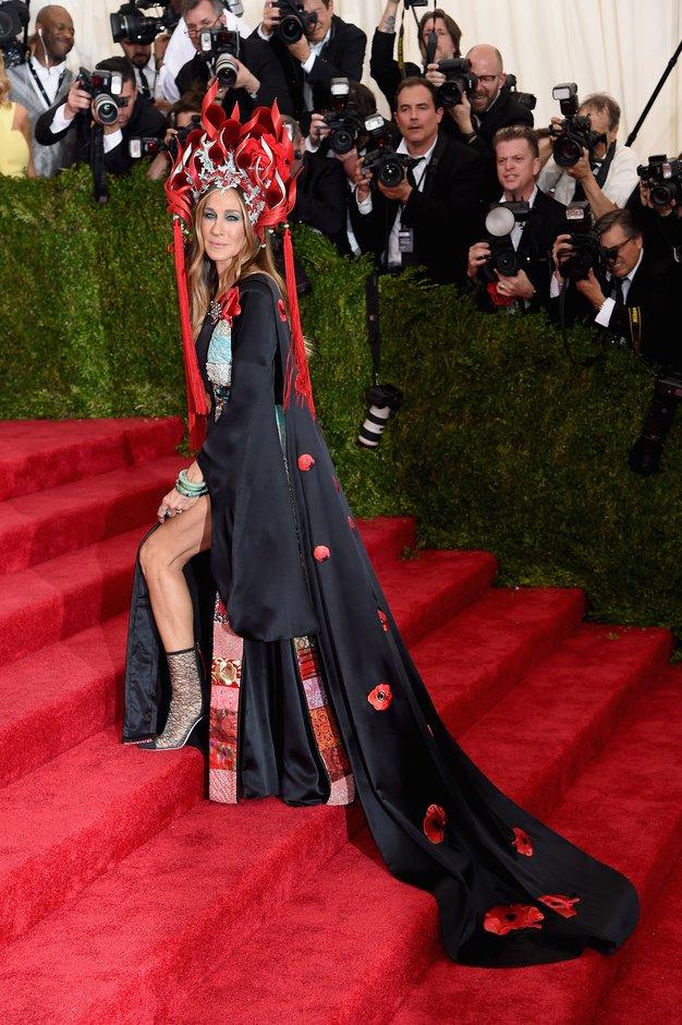 Sarah Jessica Parker in H & M na Met Gali predstavila skupno modno kreacijo - Foto: H&M