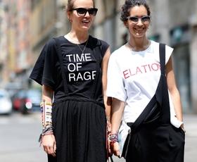 Kako nositi majico s sporočilom?