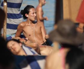 Alexander Wang na oddihu v Grčiji
