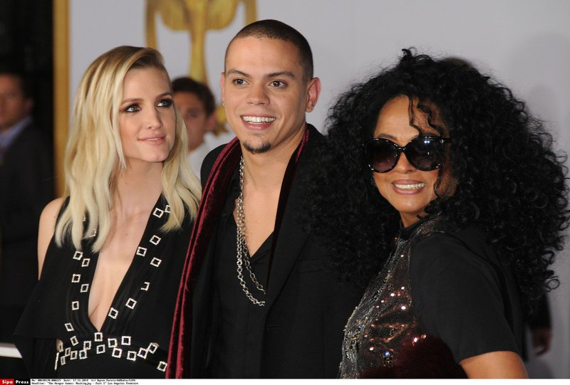 Ashlee Simson, Evan Ross in Diana Ross