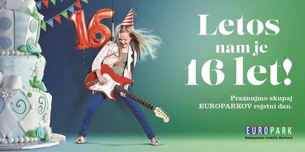 Europarkova sladka šestnajstica v znamenju dobre glasbe - Foto: Promocijsko gradivo