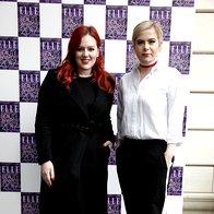 Blogerki Natasha Mernik in Ana Žnidaršič. (foto: Helena Kermelj)
