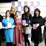 Prejemnice nagrad z odgovorno in lepotno urednico revije Elle. (foto: Helena Kermelj)