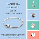 Zapestnica Pandora že za 1 euro