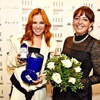 Nina Pušlar in Vanja Žižmond z izdelki ACQUA ALLE ROSE (foto: Igor Zaplatil)