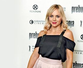 Katarina Čas je blestela na premieri filma Terminal!