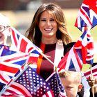 Ste že videli obleko, v kateri je Melania Trump spoznala kraljico Elizabeto?